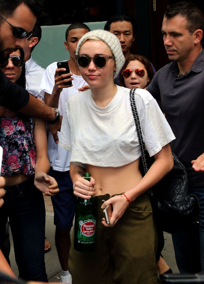 Miley Cyrus à New-York le 6 août 2014
