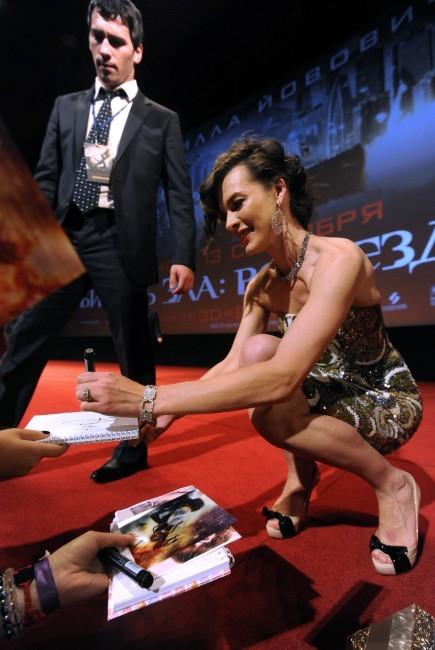 MIlla Jovovich, Moscou, 6 septembre 2012