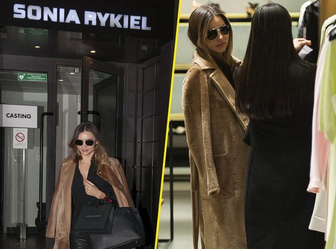 Miranda Kerr à Paris : virée shopping super stylée chez Sonia Rykiel !