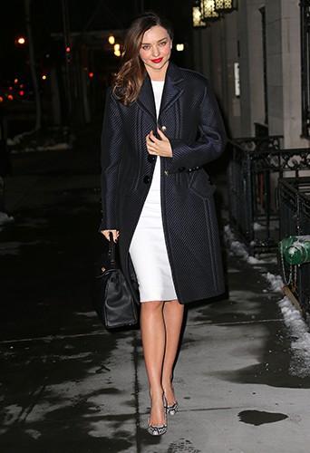 Miranda Kerr à New-York le 4 février 2014
