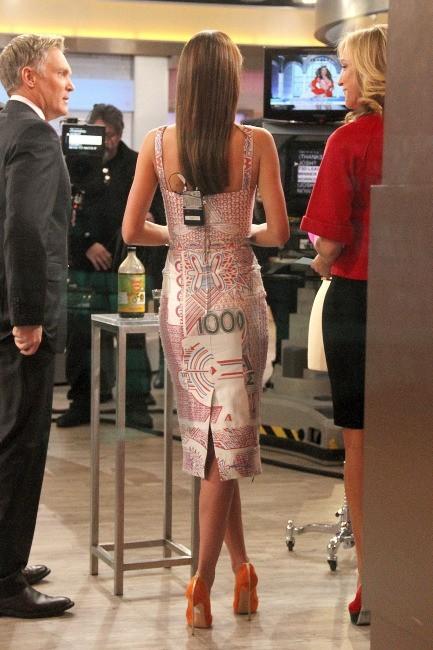 Miranda Kerr sur le plateau de Good Morning America à New York, le 27 février 2013.