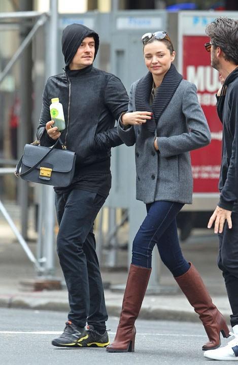 Orlando Bloom et Miranda Kerr hier à New-York !