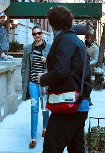 Orlando Bloom et Miranda Kerr à New-York le 13 décembre 2013