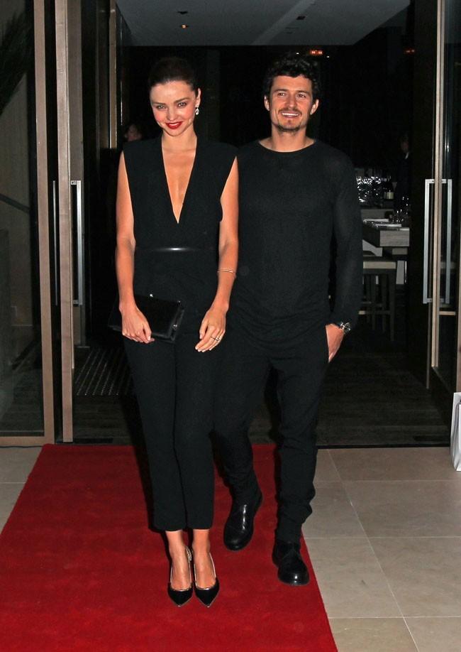 Miranda Kerr et Orlando Bloom le 6 septembre 2012 à Sydney