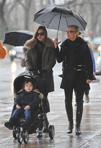 Miranda Kerr à New-York le 29 décembre 2013