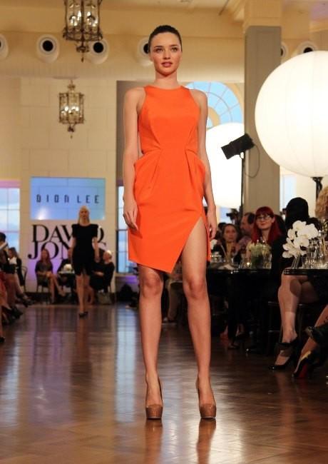 Miranda Kerr lors du défilé David Jones à Sydney, le 14 février 2012,