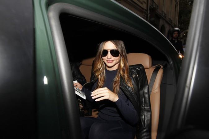 Miranda Kerr à Paris le 29 septembre 2014