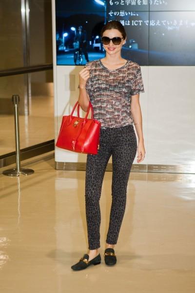 Miranda Kerr à l'aéroport de Narita, le 7 septembre 2012.