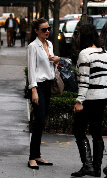 Miranda Kerr à New York, le 22 décembre 2013.