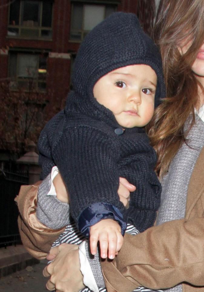 Miranda Kerr et son fils Flynn à New York, le 22 novembre 2011.