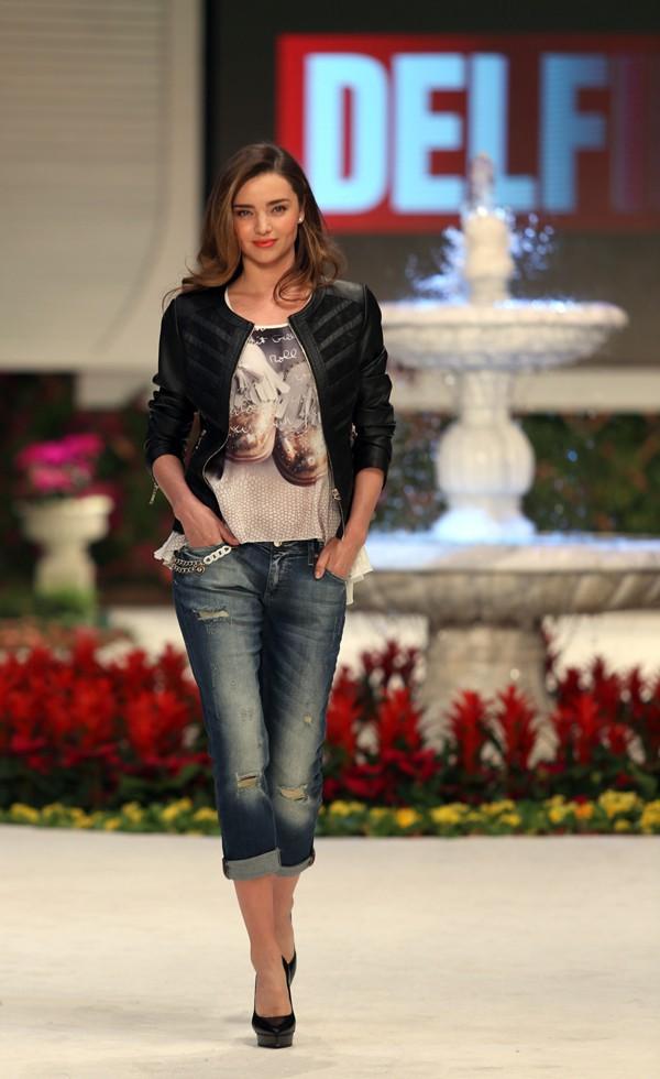 Miranda Kerr à Antalya, en Turquie, le 9 janvier 2014