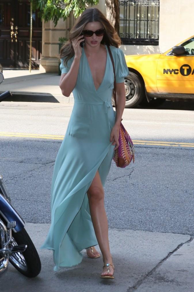 Miranda Kerr dans les rues de New York, le 12 juillet 2012.