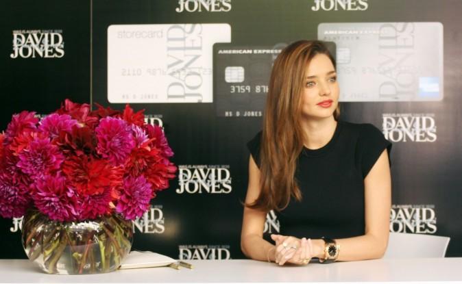 Miranda Kerr en promo pour David Jones à Melbourne, le 8 février 2013.