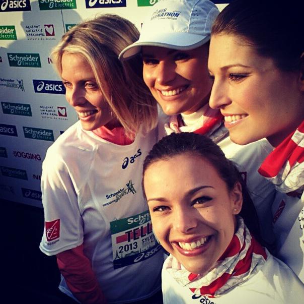 Les Miss au marathon de Paris le 7 avril 2013