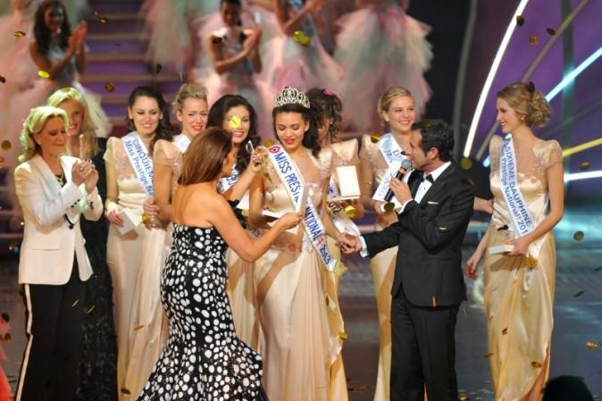 Auline Grac lors de l'élection de Miss Prestige National le 10 décembre 2012 à Paris