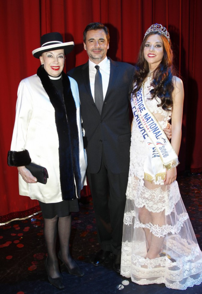 Margaux Deroy, Olivier Minne et Geneviève de Fontenay le 18 janvier 2015