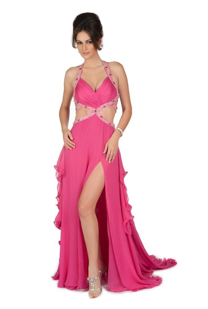 Miss Brésil en robe de soirée