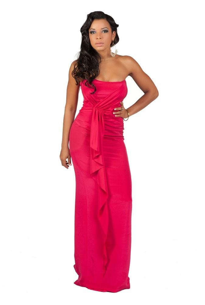 Miss Îles vierges américaines en robe de soirée