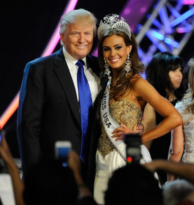 Donald Trump et Erin Brady, élue Miss USA 2013 à Las Vegas, le 16 juin 2013.