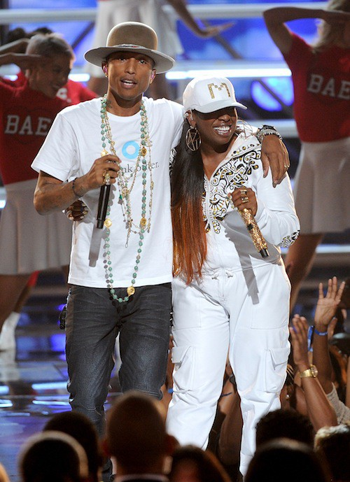 Missy Elliott en juin 2014 aux Bet Awards avec Pharrell Williams