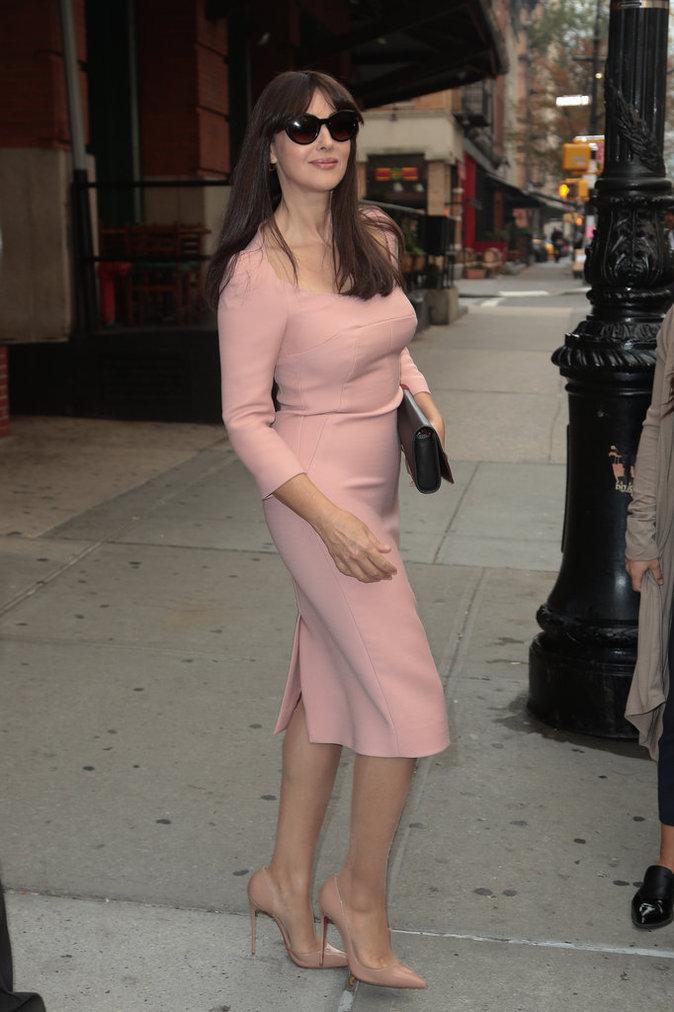 Monica Bellucci à New York le 5 octobre 2015
