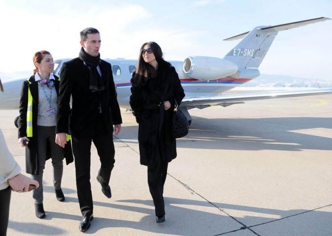 Monica Bellucci en République serbe le 20 janvier 2013