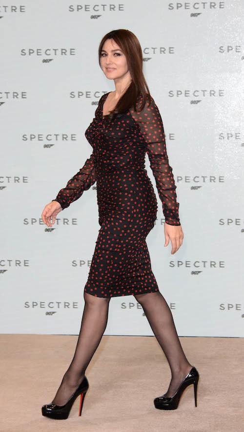 Monica Bellucci lors du photocall de Spectre, le nouveau James Bond, le 4 décembre 2014 !