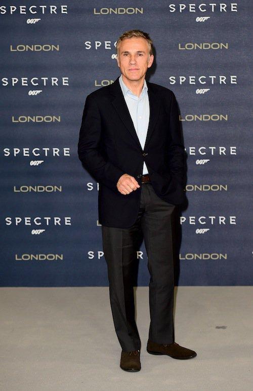 Christoph Waltz à Londres pour Spectre, le 22 octobre 2015