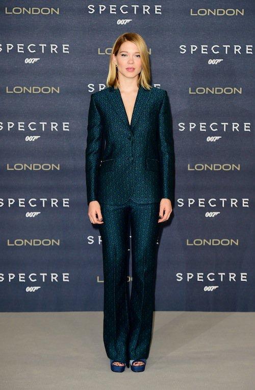 Léa Seydoux à Londres pour Spectre, le 22 octobre 2015