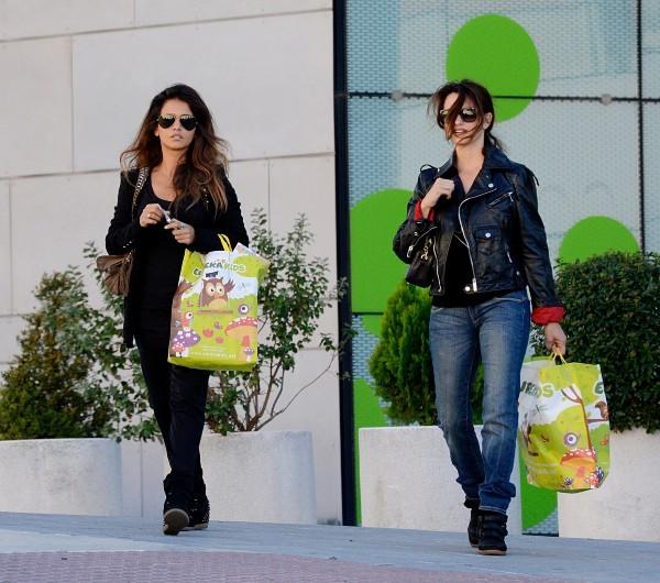 Penelope Cruz et Monica Cruz le 14 novembre 2012 à Madrid