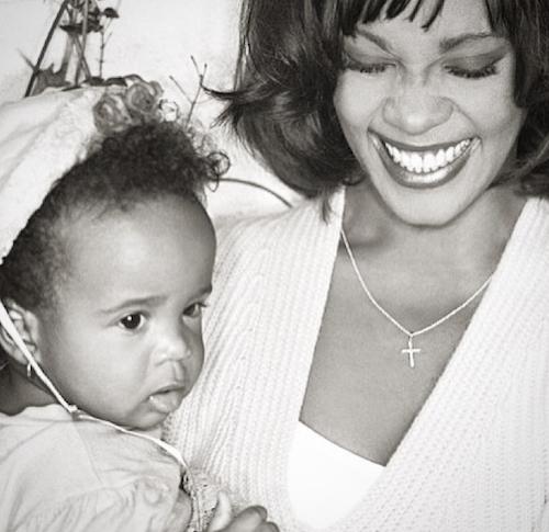 Bobbi Kristina avec Whitney Houston