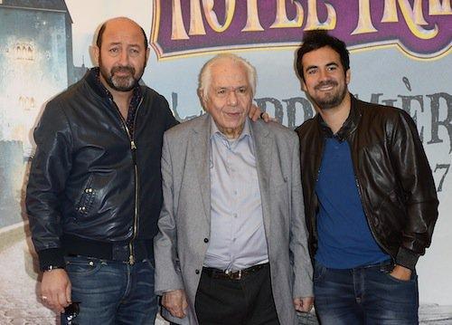 Avec Kad Merad et Alex Goude à l'avant-première du film Hôtel Transylvanie 2 à Paris en septembre 2015