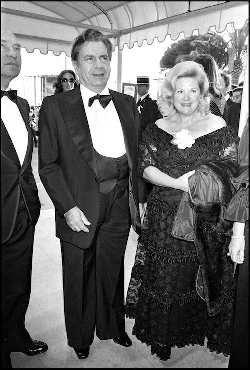 Avec sa femme au Festival de Cannes en 1981