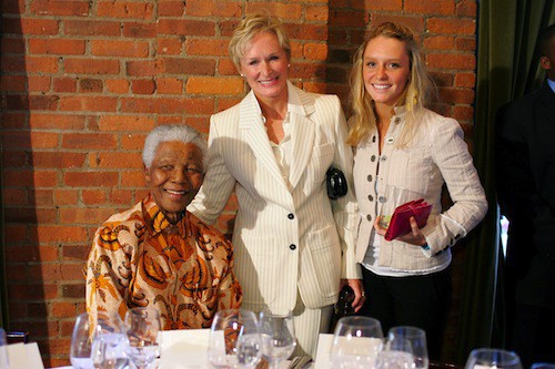 Nelson Mandela et Glenn Close