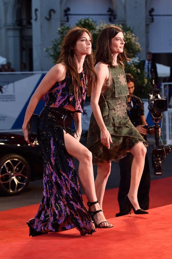 Charlotte Gainsbourg et Chiara Mastroianni à la Mostra de Venise le 30 août 2014