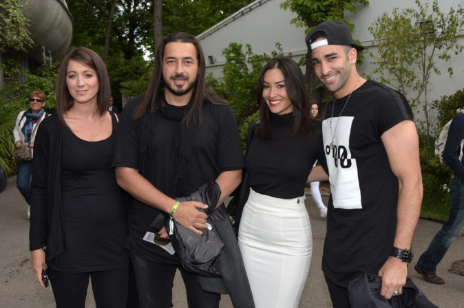 Inès, Moundir, Sidonie Biemont et Adil Rami