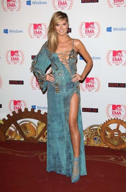 Heidi Klum lors des MTV EMA's à Francfort, le 11 novembre 2012.