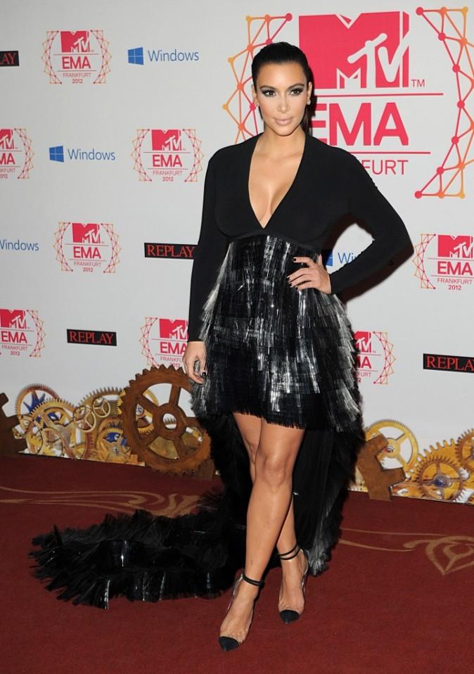 Kim Kardashian lors des MTV EMA's à Francfort, le 11 novembre 2012.