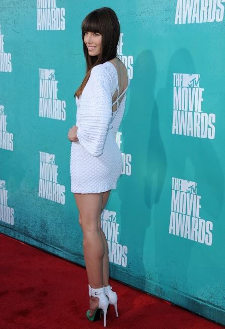 Jessica Biel lors des MTV Movie Awards 2012 à Universal City, le 3 juin 2012.