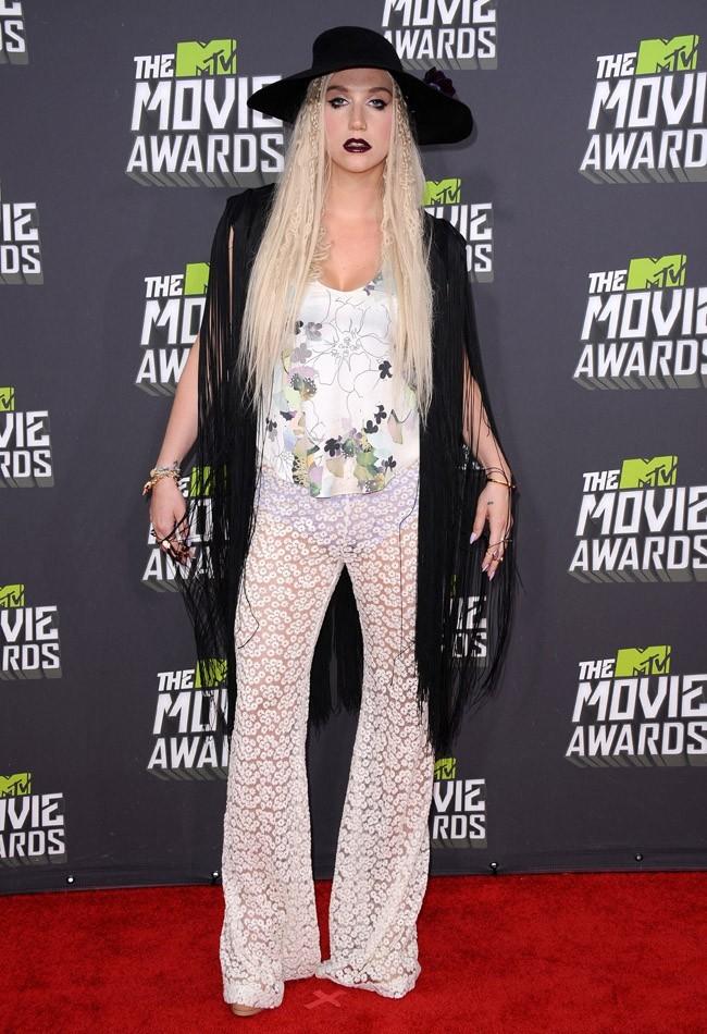 Ke$ha lors de la cérémonie des MTV Movie Awards 2013 à Los Angeles le 14 avril 2013