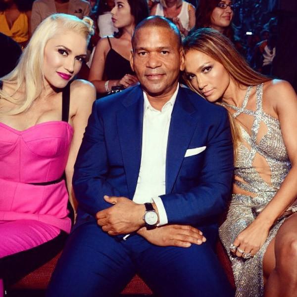 Jennifer Lopez à la cérémonie des MTV Video Music Awards le 24 août 2014 avec Gwen Stefani
