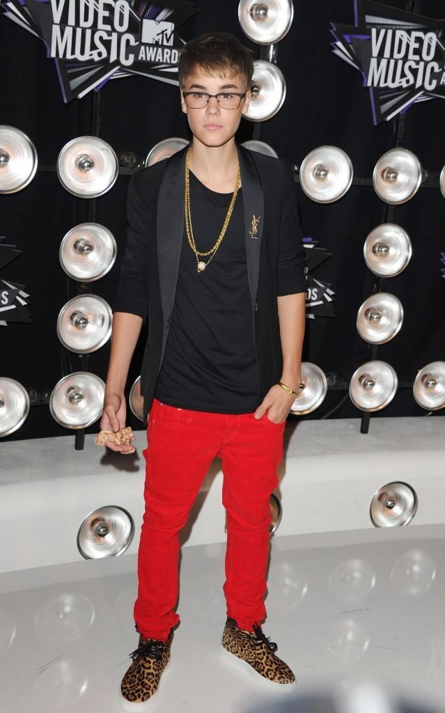 Justin Bieber lors des MTV VMA's 2011 à Los Angeles, le 28 août 2011.