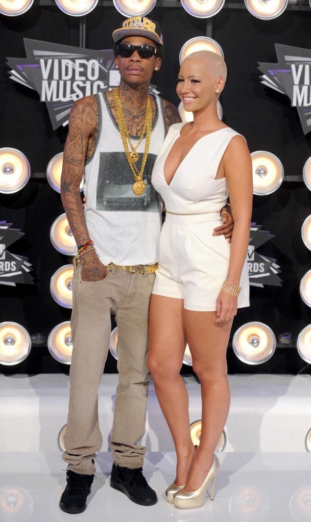Wiz Khalifa et Amber Rose lors des MTV VMA's 2011 à Los Angeles, le 28 août 2011.