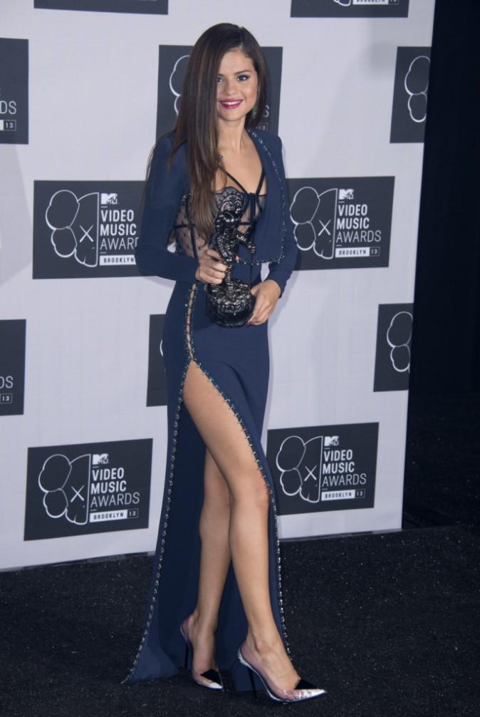 Selena Gomez lors de la cérémonie des MTV VMAs à New York, le 25 août 2013.