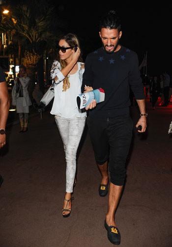 Nabilla Benattia et Thomas Vergara à Cannes, le 20 mai 2014.