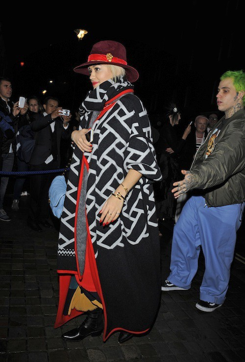 Rita Ora à l'anniversaire de Mario Testino à Londres, le 29 octobre 2014
