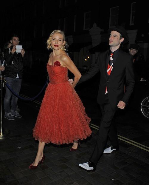 Sienna Miller à l'anniversaire de Mario Testino à Londres, le 29 octobre 2014