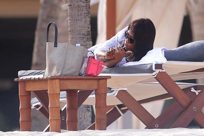 Naomi Campbell en vacances au Kenya le 26 décembre 2013
