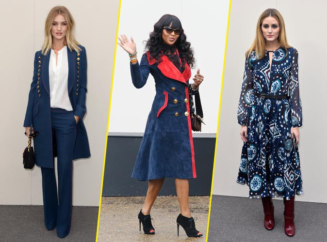 Photos : Naomi Campbell, Rosie Huntington-Whiteley, Olivia Palermo... Un front row de prestige au défilé Burberry Prorsum