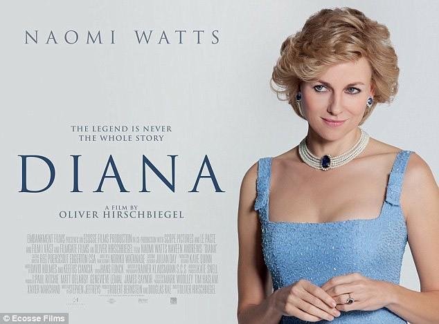 Naomi Watts sur le poster du biopic de Diana